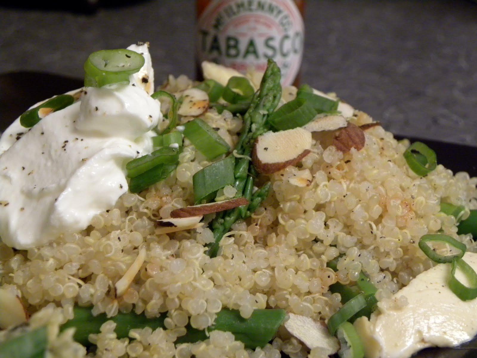 Tabasco & Asparagus Quinoa Recipe: (adapted from Heidi Swanson's ...